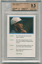 1999 Question of Sport TIGER WOODS ROOKIE (RC) BGS 9.5 Gem Mint  RARE [BBE]