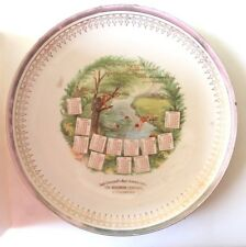 1910  EAST LIVERPOOL'S BEST GROCERY STORE ADVERTISING CALENDAR PLATE EAST END