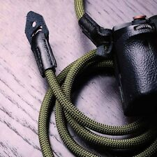 Strong Climbing Rope + Leather Braided Camera Neck Shoulder Strap for Fuji X-T2