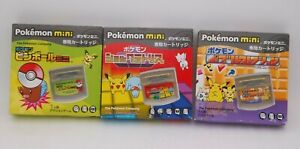 Pokemon Mini Shock Tetris Pinball Mini & Puzzle Collection 3pcs Japan import
