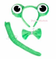 New Style Halloween Costume Cute Joyful Green Frog 2 Piece Set in Headband & Tie