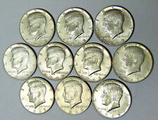 Lot of 10 Kennedy 40% Silver Half Dollars 1965-1969 $5 Face Value