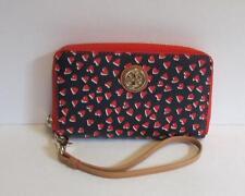 Tory Burch Kerrington Smartphone Wristlet Valentines Amore Heart wallet red new