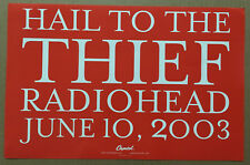 Radiohead 2003 Promo Lithograph Poster for Hail Cd Usa Never Displayed