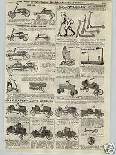 1917 PAPER AD Dan Patch Pedal Cars Racer Roadster Truck Irish Mail Kangaroo