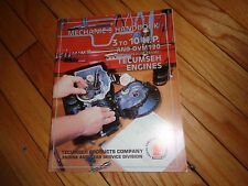 Mechanic's Handbook 3 to 10 H. P. and Ovm 120 Tecumseh Engines Manual
