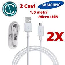 2X 1,5 M ECB-DU4EWE CAVO ORIGINALE BIANCO SAMSUNG USB CARICA DATI GALAXY S6 EDGE