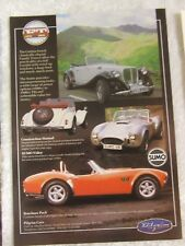 PILGRIM SUMO & FT TOURER KIT CARS POSTER ADVERT READY FRAME A4 SIZE