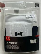 *NEW* UNDER ARMOUR UA VOLLEYBALL KNEE  PADS LOW PROFILE SIZE YOUTH WHITE 1294850