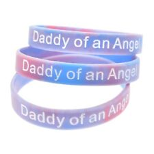 Daddy of an Angel Wristband Silicone Bracelet Wristbands Child Baby Loss Gift UK