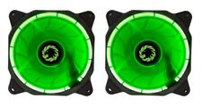 2 x Game Max Eclipse Green LED Ring 120mm Fan PC 12cm Case Fan High Performance