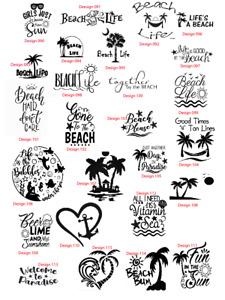beach sea palm tree car vw decal sticker transfer home wall vinyl rude funny