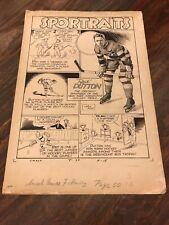 "Smash Comics Feb 1940 #7 Gill Fox Original Illustration ""Red"" Dutton SPORTRAITS"