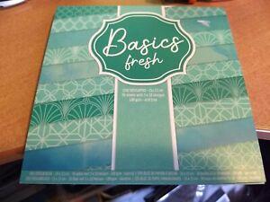 DESIGNPAD BASIC FRESH   30 SHEETS 15X15 CM 3X10 DESIGNS NEW