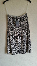 Hip Length Cotton Blend Animal Print Tops & Shirts for Women