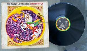 "Bob Marley & The Wailers ""Confrontation"" 1983 Nigeria Press Reggae LP Tuff Gong"