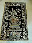 """ANTIQUE TOTALLY HAND MADE RUG or WALL HANGING Aubusson Needlepoint  47 1/2"""" x 29"""
