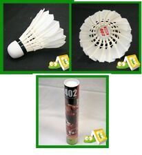 12 pcs DHS Goose Feather Badminton Shuttlecocks - FOR TRAINING