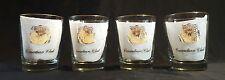 RARE Set of 4 Hiriam Walker Canadian Club Whisky Rocks Glasses 14 oz Gold Trim