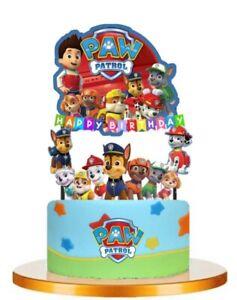 PAW PATROL Cupcake Birthday Cake Topper Party Supplies Decoration UK