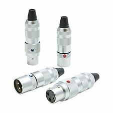 New!! Official Oyaide FOCUS 1 XLR Connector 4 Pcs from Japan Import