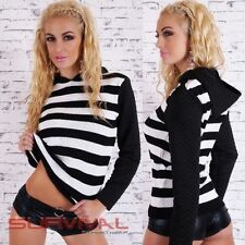 Acrylic Machine Washable Casual Striped Tops & Blouses for Women