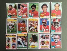 Lot cartes NFL Atlanta Falcons Topps 1976 1980 1981 Football Américain