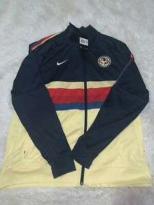 Nike Club America 20/21  N98 LE Soccer Jacket Yellow Blue Red Mens Sz XXL NWT
