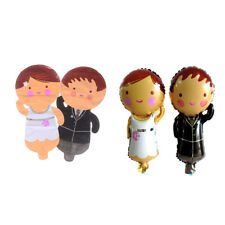 2pcs Bride and Groom Dress Aluminum Foil Balloon Wedding Party Decoration Pg