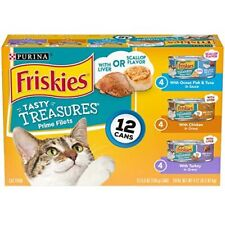 12 Cans Wet Cat Food Tasty Treasures 5.5 oz. Variety Hot New USA