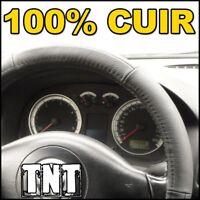 Couvre volant noir en CUIR Renault Clio 1 2 3 Megane Scenic Laguna Twingo Sport