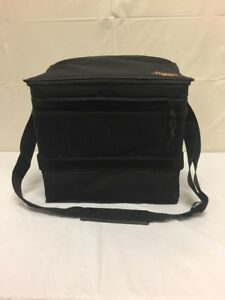 """Jimmy GMC Hot/Cold Lined Bag 12 3/4""""Wx12 1/4""""H Lunchbox Carry black Cooler"""