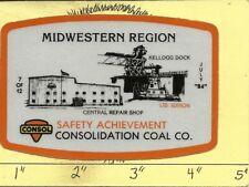 "Consol Coal Co -Hard Hat-Coal Mining Sticker-Decal ""Rare 00006000 4;"