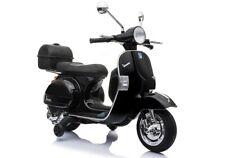 Elektrofahrzeug Motorroller Vespa Piaggio PX150 schwarz für Kinder 12V 2 x 45W M