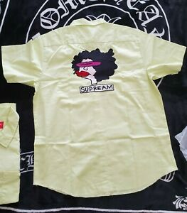 Supreme Gonz Ramm Work shirt FW17 light yellow M Medium brand new