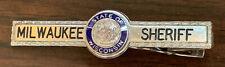 Vintage Milwaukee Sheriff State of Wisconsin enamel logo tie bar clasp