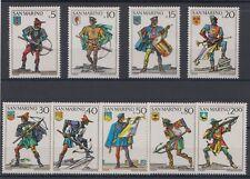 1973 Serie Balestrieri 9 Valori Nuova MNH San Marino Catalogo 897-905