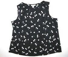 Coldwater Creek Black White 2X (20-22) Sleeveless Blouse Top Shirt Woman's