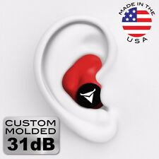 Decibullz PLG1-RED Custom Molded Fit Earplugs in Red