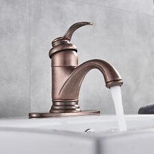 Antique Brass Copper Bathroom Sink Faucet Vanity Lavatory Single Handle Mixer