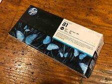 NEW 2018 HP 81 BLACK PRINTHEAD AND CLEANER DESIGNJET 5000 C4950A GENUINE