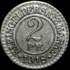 NOTGELD: 2 Pfennig 1918. Funck 112.2A. STADT ELBING / WESTPREUSSEN ⇒ ELBLĄG.