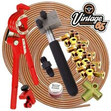 "Classic VW DIN 3/16"" Copper Brake Pipe Line 10mm Unions Flaring Restoration Kit"