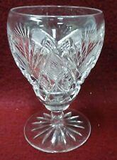 """HAWKES crystal HAW16 Criss Cross & Fan Design pattern Wine Goblet - 4-1/4"""""""