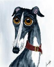 LARGE DOG 6610 DIANNE HEAP GREYHOUND WHIPPET LURCHER DOGS BED PAINTING PRINT ART