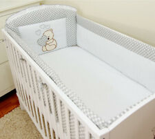 Bettumrandung für Babybett  60x120/70x140cm Kopfschutz Netschen 360cm/420cm Herz