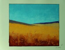 CONTEMPORARY ABSTRACT LANDSCAPE OIL PAINTING ON PAPER-30x22 CM 008