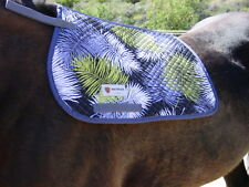 METRIZE PONY/ARABIAN ENGLISH QUILTED SADDLE PAD - BLK, NAVY W PALMS-LAST ONE !