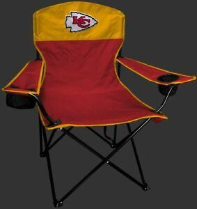 KANSAS CITY CHIEFS LINEMAN Quad Folding Chair [NEW] NFL Travel Tailgate