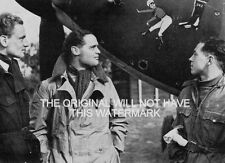 242 SQUADRON LEADER DOUGLAS BADER DUXFORD 1940 WORLD WAR 2 VINTAGE MOUNTED PRINT
